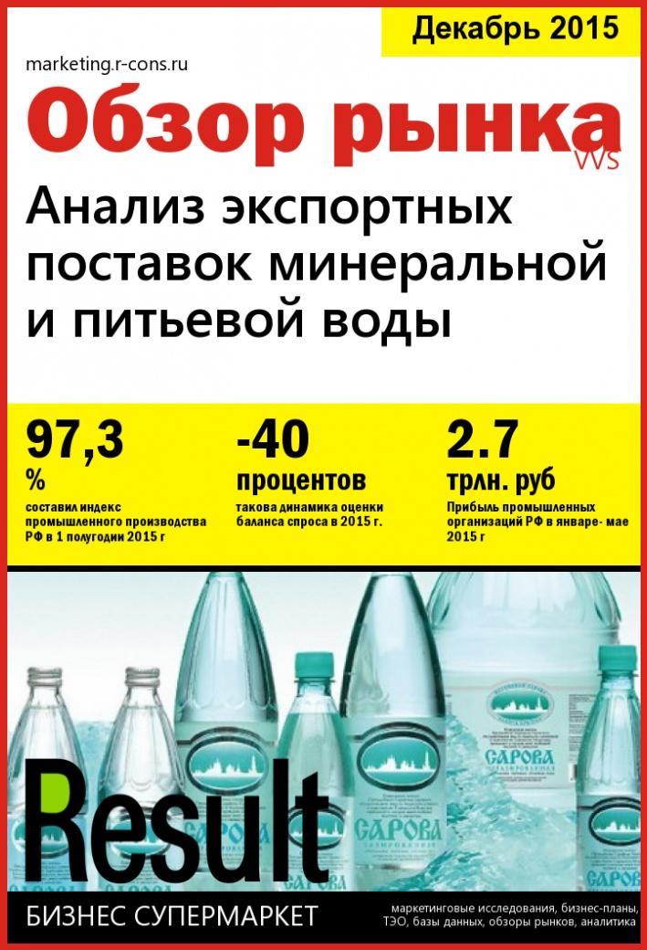 Анализ экспортных поставок минеральной и питьевой воды style=