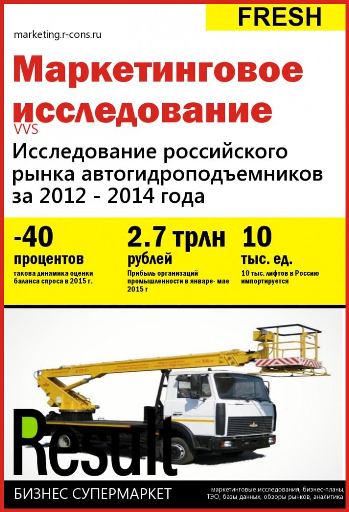 Исследование российского рынка автогидроподъемников за 2012 - 2014 года style=