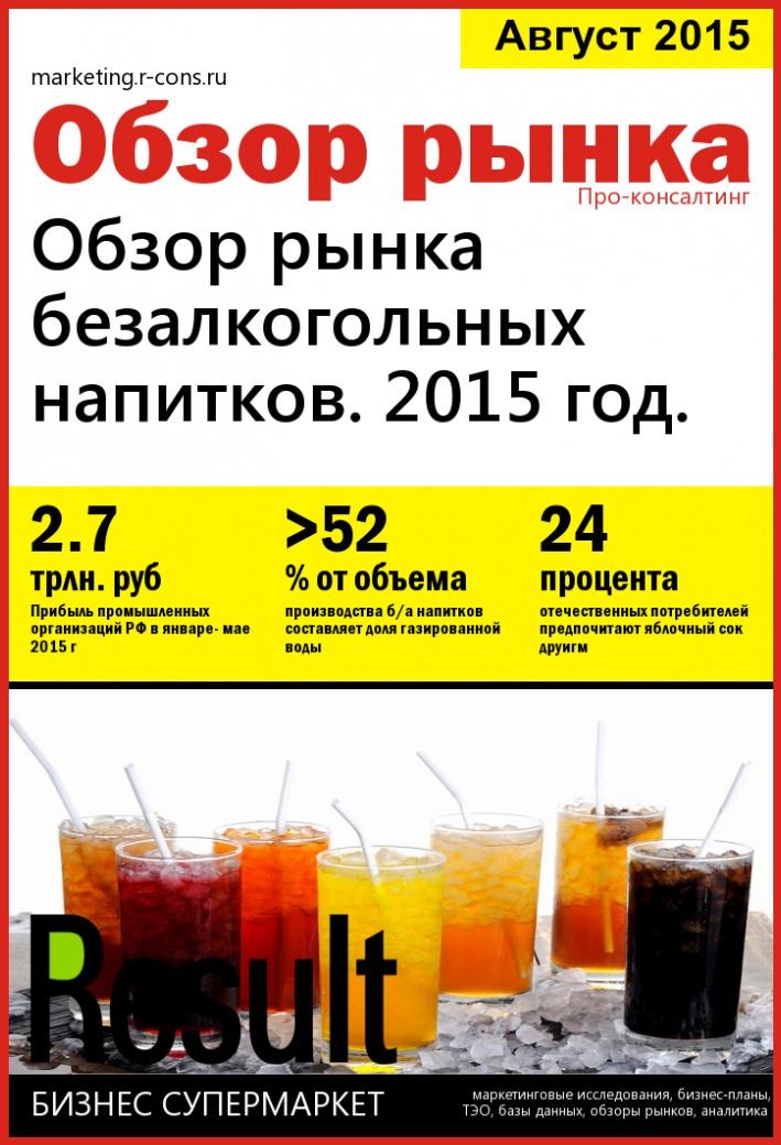 Обзор рынка безалкогольных напитков. style=