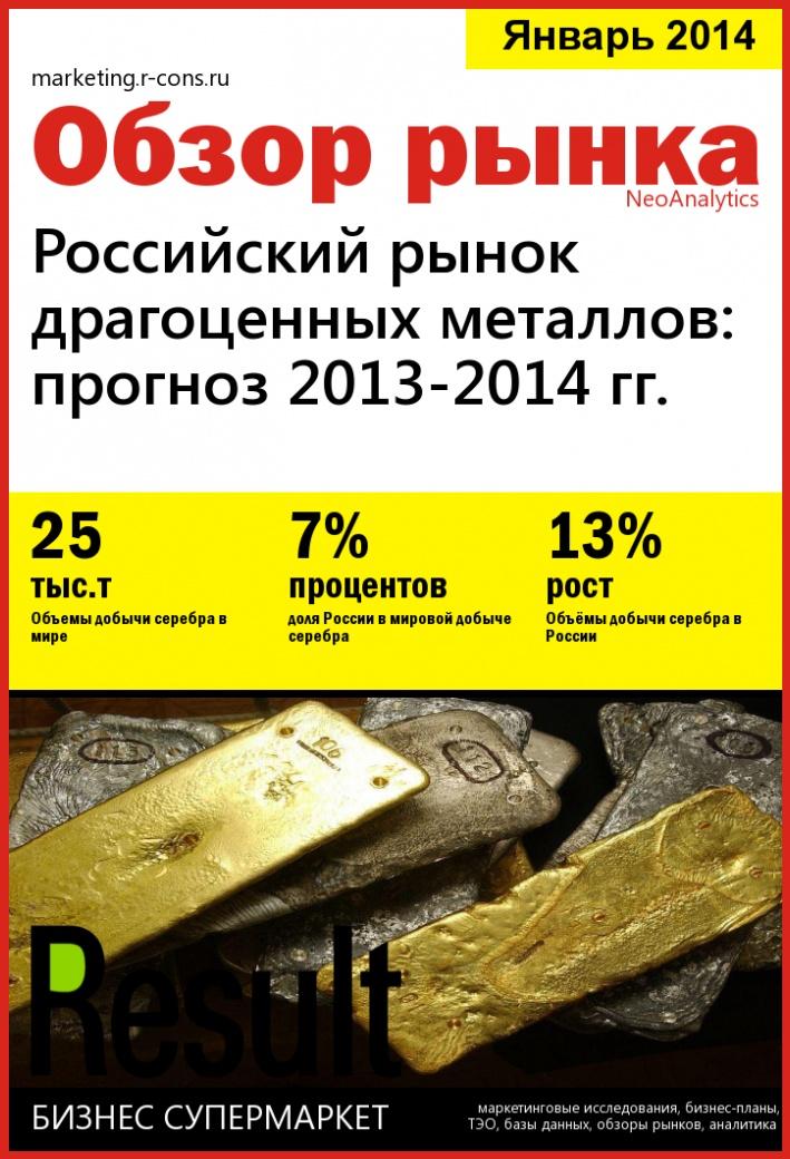 Российский рынок драгоценных металлов: прогноз 2013-2014 гг. style=