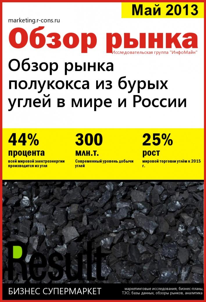 Обзор рынка полукокса из бурых углей в мире и России style=
