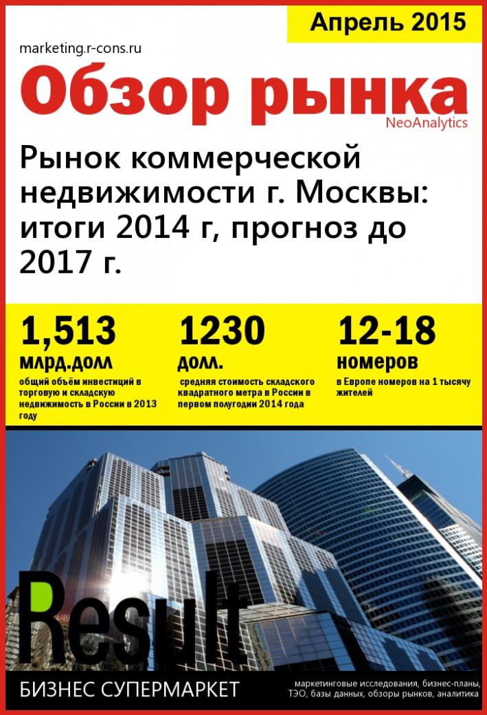 Рынок коммерческой недвижимости г. Москвы: итоги 2014 г, прогноз до 2017 г.
