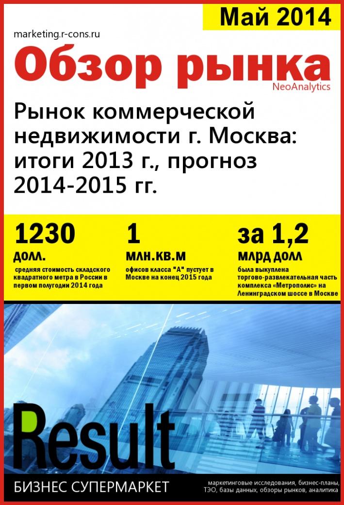 Рынок коммерческой недвижимости г. Москва (прогноз 2014-2015 гг). style=
