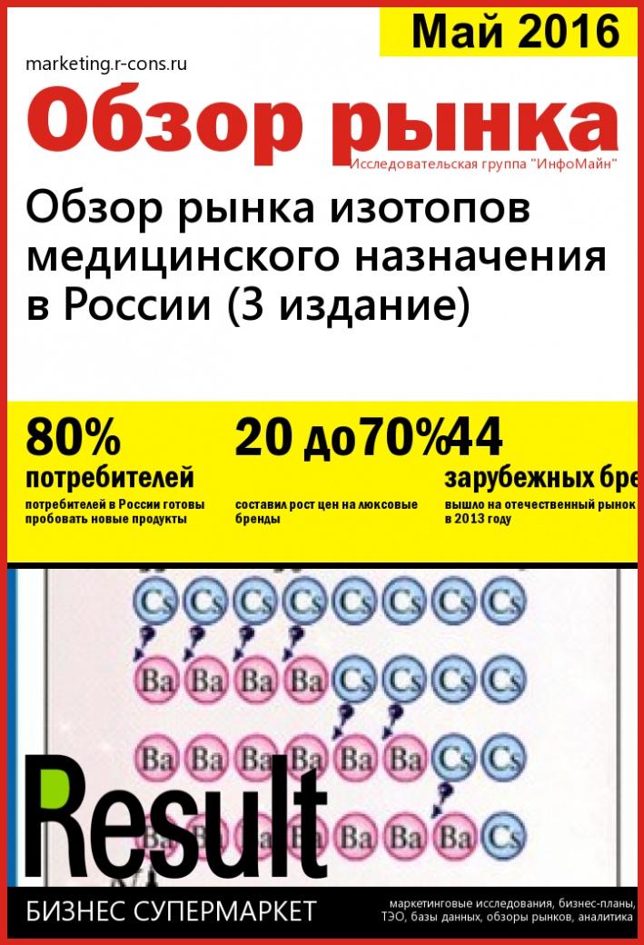 Обзор рынка изотопов медицинского назначения в России (3 издание) style=