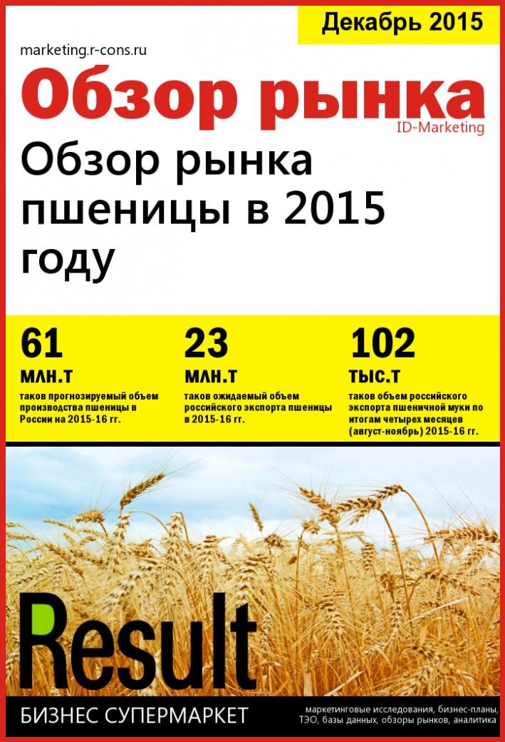 Обзор рынка пшеницы в 2015 году