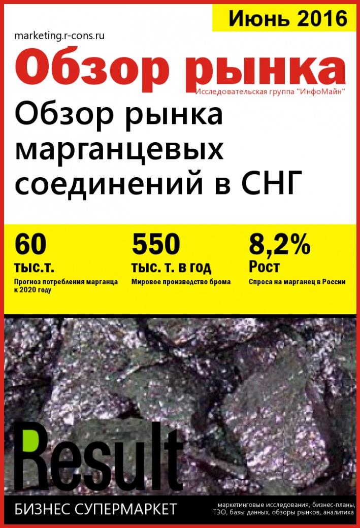 Обзор рынка марганцевых соединений в СНГ