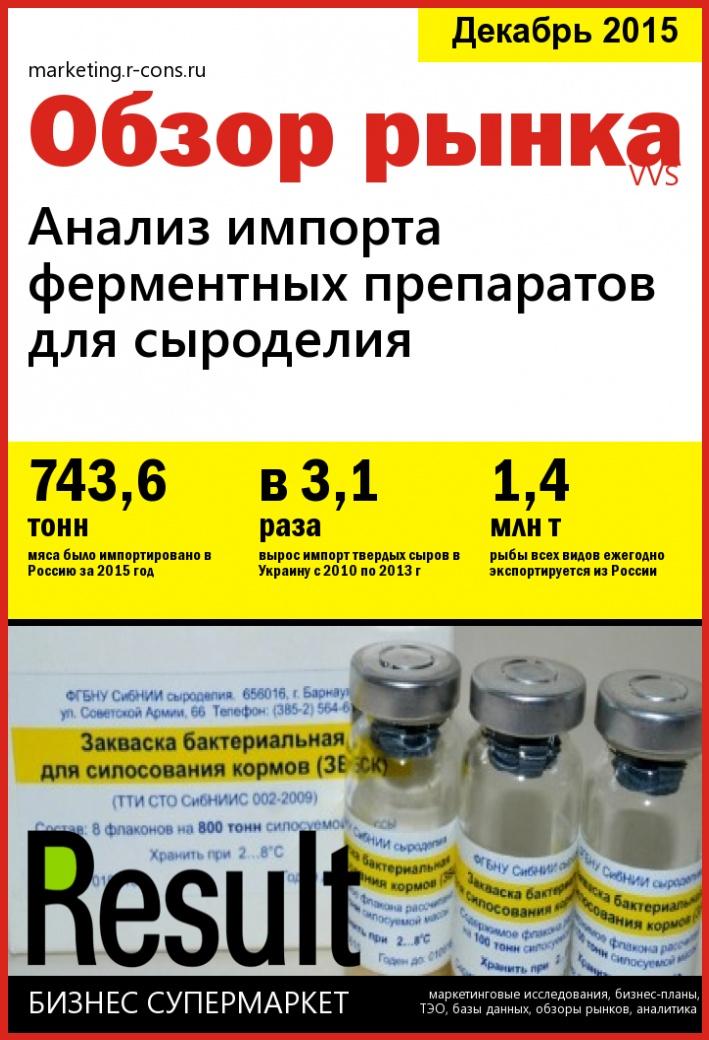 Анализ импорта ферментных препаратов для сыроделия style=