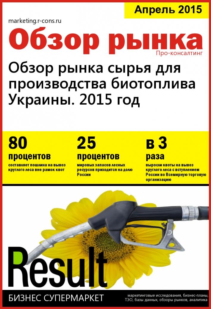 Обзор рынка сырья для производства биотоплива Украины. 2015 год style=