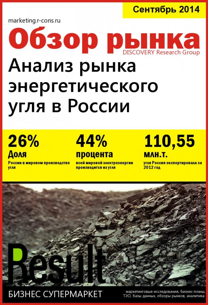 Анализ рынка энергетического угля в России