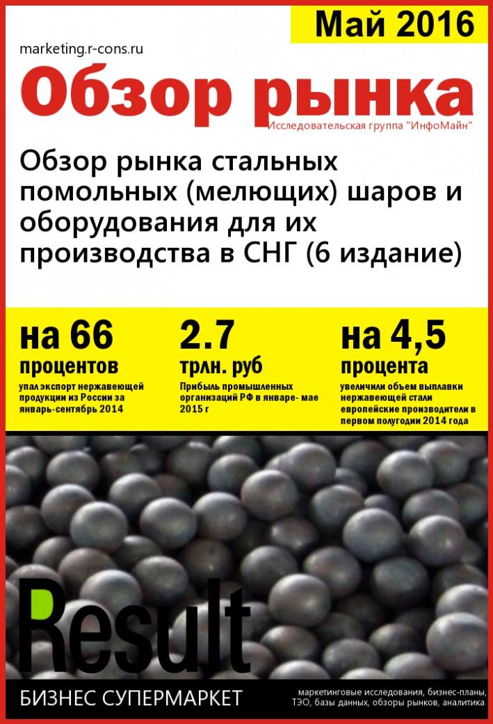 Обзор рынка стальных помольных (мелющих) шаров и оборудования для их производства в СНГ (6 издание)