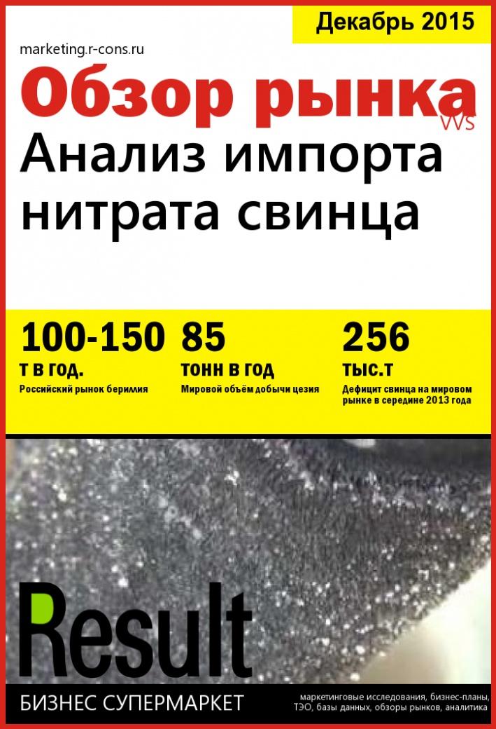 Анализ импорта нитрата свинца