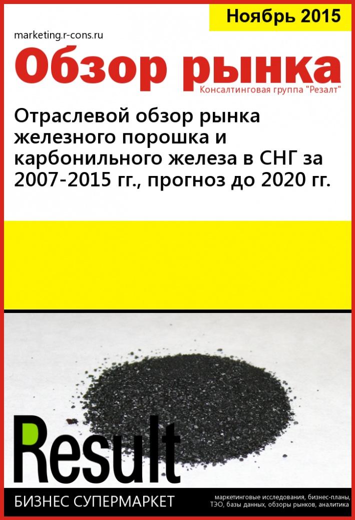 Отраслевой обзор рынка железного порошка и карбонильного железа в СНГ за 2007-2015 гг., прогноз до 2020 гг. style=