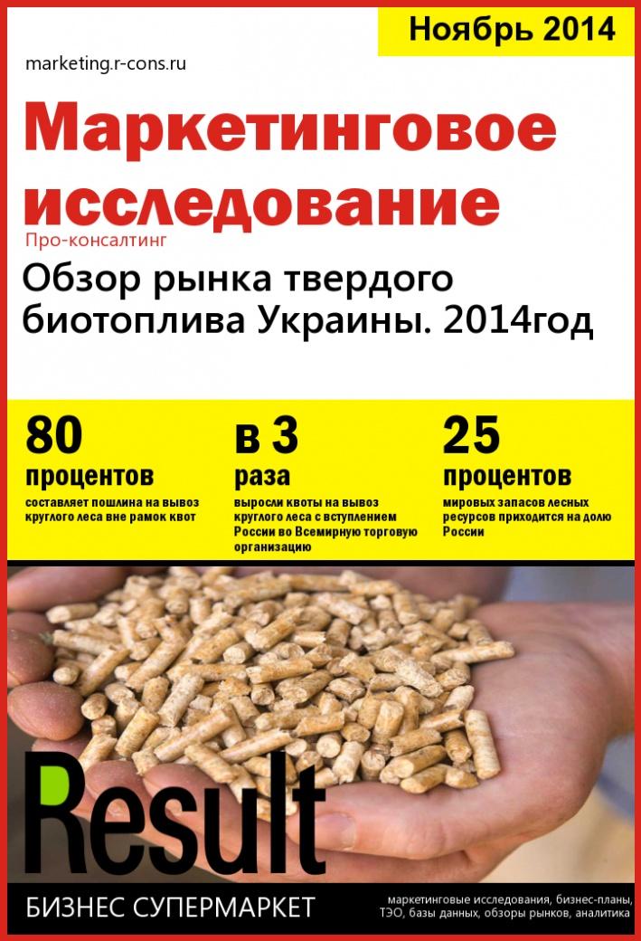 Обзор рынка твердого биотоплива Украины за 2014 год style=