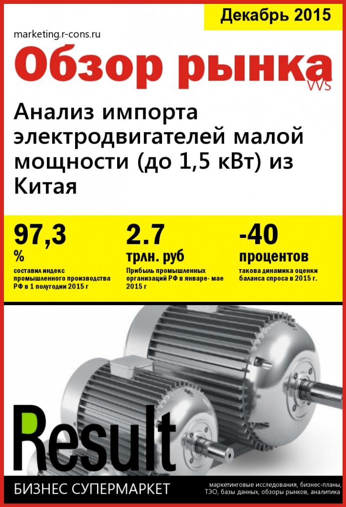 Анализ импорта электродвигателей малой мощности (до 1,5 кВт) из Китая  style=